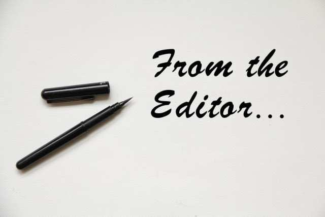 From the Editor – April 13, 2018