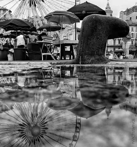 3 ArtReflection Bnw Old Port of Marseille