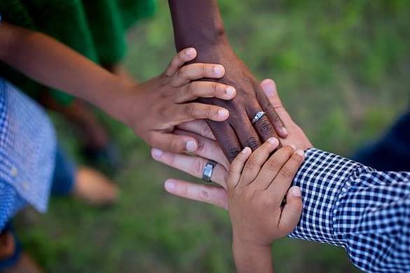 blended family hands