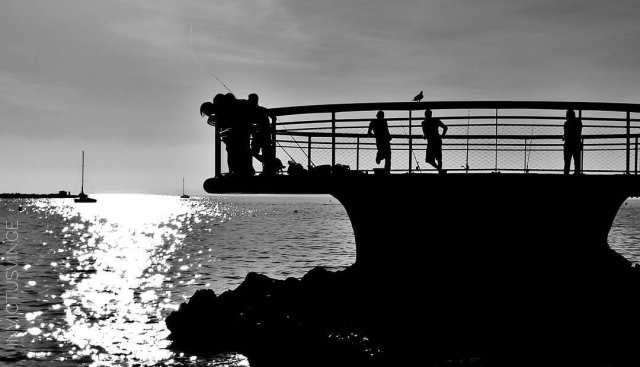 4 ArtSilhouette Bnw Catalans Beach Marseille